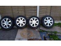SET OF OZ 16'' WHEELS & TYRES