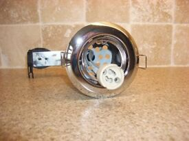 Halolite Fire Rated Adjustable Downlighters - Polished Chrome - BRAND NEW and FREE