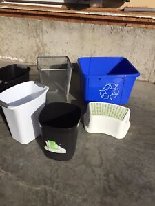 Household Garbage and Recycling Bins