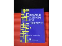 Occupational Therapists ' Research Methods for Therapists - Avril Drummond' 1996