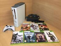 Xbox 360 Bundle with 7X games, controller And Cables