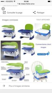 Chaise rehausser avec tablette Fisher Price