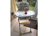 Joie Mimzy Snacker Owl Highchair and Toy