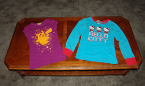 Girls Tops Youth size  XS Pokemon  t shirt and Hello Kitty