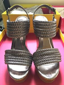 Kenneth Cole Bent Away wedge in Pewter size 7
