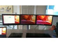Complete 3 screen setup Inc stand - VGA via USB