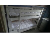 Childrens bunk beds including mattresses