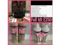 Full spray tan kit with sienna solution