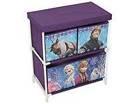 Disney Frozen Kids Toy Storage Unit, Fabric, Purple, 60 x 53 x 30 cm