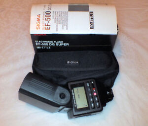 Sigma EF-500 DG Super EO-ETT II flash for Canon mt.