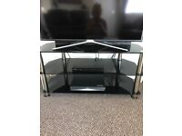 Black Glass TV Stand up to 42 Tv