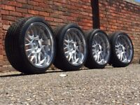 OZ NOVA deep dish alloy wheels, BMW 18inch, RARE, slammed stance e 60 61 e 34