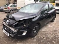 2008 Peugeot 308 diesel, being sold as spares or repair due to front end damage as seen in pictures,