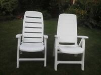Garden chairs for sale.