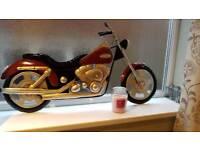 Motorbike metal wall art