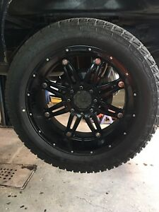 Selling 24x12 fuel hostage rims and tires