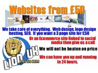Professional Websites starting at just £50