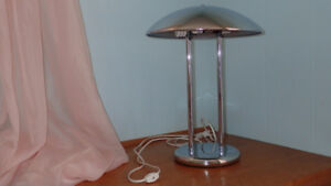 Chrome Metal Table Lamp