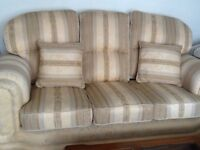 Three seat sofa and armchair, in excellent condition