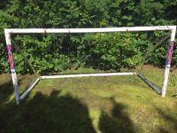 Samba 8 x 4ft High Impact Light uPVC Football Goal. Free Standing, Quick Assembly, Maintenance free
