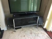 TV Stand with sliding glass doors