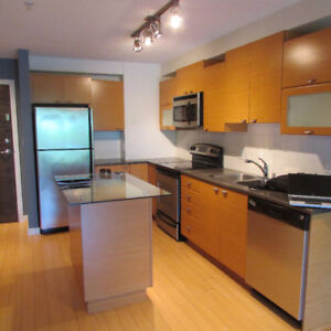 Bright 2BR, 2BA modern condo near Skytrain - avail. August 15th