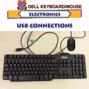 DELL KEYBOARD AND MOUSE WITH USB CONNECTIONS