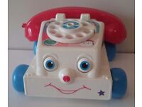 DISNEY PIXAR TOY STORY 3 CHATTY PHONE FISHER PRICE TALKING PHONE