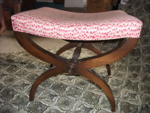 Beautiful curved foot stool