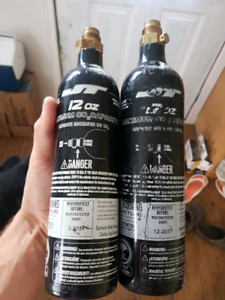 2 - 12oz co2 tanks for paintball