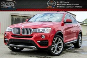 2016 BMW X4 xDrive28i|Navi|Pano Sunroof|Backup Cam|Bluetooth|H