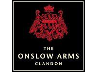 Kitchen Porter - The Onslow Arms, West Clandon - up to £7.50/hr + GREAT TIPS (around £2.5K/annum)