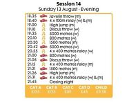 IAAF - Sunday 13 August 2017 - 2 x Final tickets @ Face Value - CAT A - Super Gold Session
