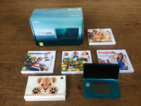 Nintendo 3DS with 4 games and case included