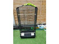 CAGE WITH perches and feeders