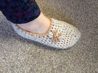 Hand made crochet slippers