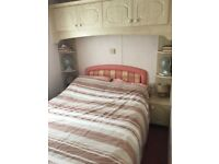 8 berth caravan for sale sited at cross park holiday village, 10mins from Tenby and saundersfoot.