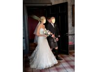 Richard Designs 54inch 2 Teir Ivory Veil
