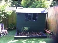 7x5 wooden shed good condition no leaks collection rainworth mansfield
