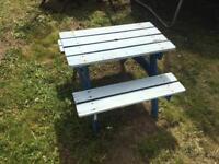Children's picnic bench table