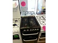 CANNON 50CM ALL GAS COOKER IN BLACK WITH LID