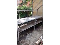 Greehouse bench/garden table