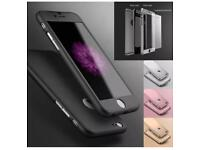 Hybrid 360 iPhone 7 case with tempered glass