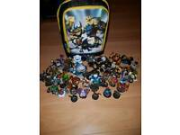 Skylanders Figures & Carry Bag - Excellent Condition