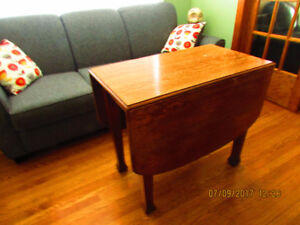 Antique Quarter Cut Oak Drop Leaf  Table