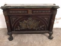 Stunning Original Antique French Inlaid Buffet Sideboard