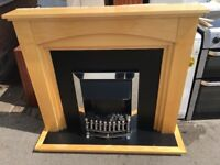 ELECTRIC FIRE WITH FULL SURROUND NICE