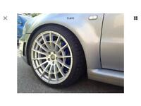 "19"" alloys genuine cast13 rb3 in grey 5x112 kumho tyres. Done 500 miles. Immac 9.5j wide deep dish!!"