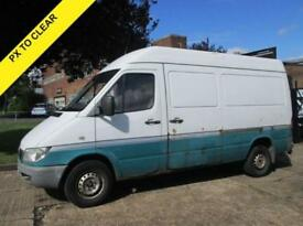 2003 53 MERCEDES-BENZ SPRINTER 2.1 313CDI MWB HIGH ROOF 129 BHP. PX TO CLEAR.