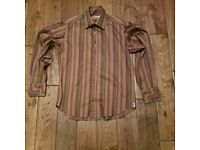 TED BAKER Brown Striped Shirt Size 4 UK Large 40